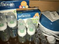 Dr Brown's Natural Flow Options Bottles With Teats Mostly New & Free Delivery