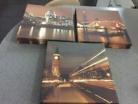 Set of 3 small canvas pictures