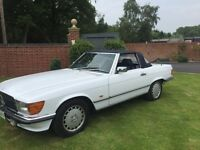 1986 MERCEDES 300SL 107 MODEL ARTIC WHITE THREE OWNERS JUST 66000 MILES FANTASTIC CONDITION