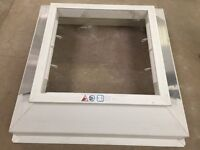 Double skin rooflight with ventilated white pvc kerb with protective film approx 900mm x 900mm