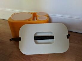 Vintage Orange Stackable Meal Trays - £18 ono