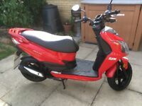 SYM JET 4R 2-STROKE 50cc MOPED, LOW MILEAGE, 2017 REG, AS NEW