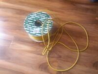 Flex round yellow artic 3 core. £0.35 per metre ONLY £31 FOR 90 Metre