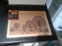 Vintage cork pinboard