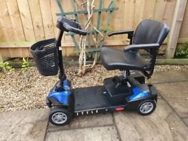 Mobility Scooter - Drive Style Plus - AS NEW Condition - Easily Dismantles To Fit In Boot - 4mph