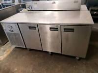 commercial foster 3 door under counter freezer