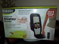Extended track Shiatsu heated massager