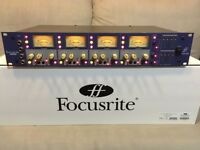 'Focusrite ISA428' mic preamp, inc optional ADC digital card. In near mint condition. RRP=£1,798.