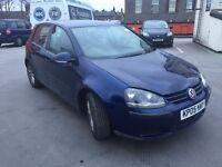 2005 VW GOLF 5 DOOR BLUE 6 SPEED 1.6 FSI 10 MONTH MOT