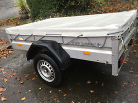 Single Axle Trailer (German made Humbaur) Includes trailer cover.