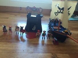 Toys for sale - Playmobil pirate ship, Chad valley fort, ELC build it, Fp trio, knex