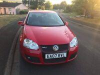 07 MODEL VW GOLF GTTDI, 170BHP New MOT, Full Service History £2650
