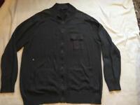 George Men's Light Wool Zipper Jacket Dark Grey Size 2XL Used £4