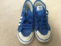 Blue/White Adidas Trainers Size 4 - Only £2.00!