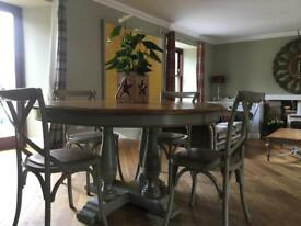 Country Living 4Seater Dining Table And Chairs