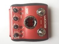 Bass guitar effects pedal Zoom B2