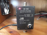 JIM M100 Pre-amplifier complete with BNC patch lead