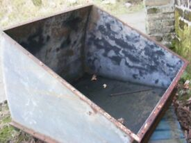 galvanised steel coal/log store for sale