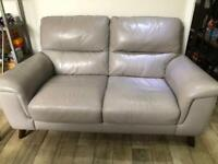 Oakfurniture land leather 2 seater sofa