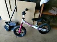 Balance learning bike
