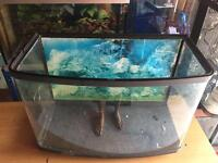 60L Aquarium Fish Tank bow front