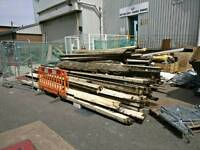Pitched pine timber to reclaim. Good solid timber.