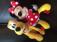 Disney Minnie Mouse and Pluto