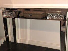 Wayfair Floating Crystal Console Table