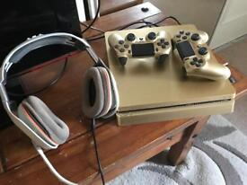 Gold limited edition PS4 slim. 500gb. 3 YEARS BREAKDOWN COVER INCLUDED!!