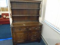 dark wood priory style dresser