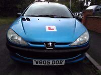 2000 W Blue Peugeot 206 LX 3 Door 1.3 Petrol