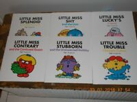 Little Miss books 6 in set Paperback Brand New