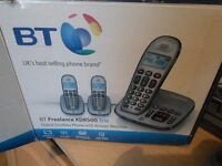 BT Freelance KD 8500 Answering Machine with Two Cordless phones