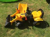 Rolly Toys JCB Tractor Trailer and Loader.