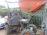 Ausa 1 ton high tip dumper in very good condition ready for work low hours Kubota engine any test
