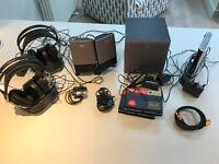 Electronics job lot inc wireless Panasonic headphones, surround sound, gold HDMI cable. Worth £200+