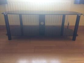 Black glass TV unit PRICE REDUCED must go!