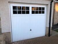 """White Garage Door - 7'6""""x 7'0"""" - Hormann RF1 - Ilkey 2101 Style"""