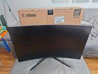 "MSI Optix MAG322CQR Quad HD 32"" Curved Gaming Monitor 165Hz G-Sync/Free-Sync compatible"