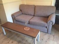 John Lewis sofa bed set with 2 arm chairs 6 months old