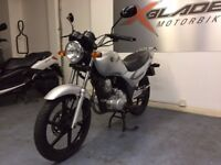 SYM XS 125cc Manual Commuter Motorcycle, Silver, Good Condition, Part ex to Clear