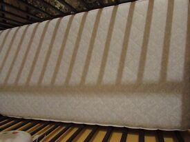 Healthy sleep double sided COT BED MATTRESS 120 X 60 filled with buckwheat shell and coconut.