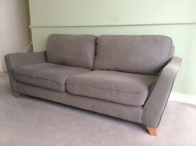 Fabric 3 seater sofa and matching chair £100