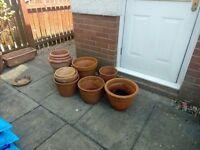 14 plant pots 25pounds