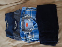 Boys winter bundle, age 9: jumpers, cords, long-sleeved shirt