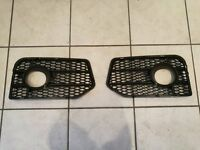 AUDI A4 (8E B7) RS RS4 HONEYCOMB FRONT BUMPER FOGLIGHT COVERS GRILLES
