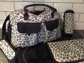 NEXT leopard print change bag & accessories