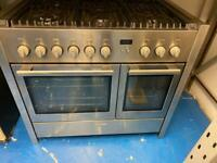 Stainless steel neff 90cm dull full cooker grill & double fan assets ovens with guarantee
