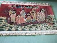 Good Quality Small Chinese Rug Eight Immortals 54 x 27 ins Recently Cleaned