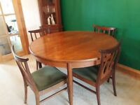 Vintage G Plan Dining Table And 4 Chairs